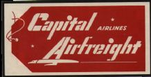 Collctable Vintage Airline luggage label Capital Airways  #838
